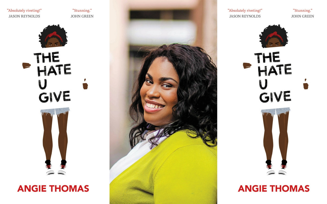 The Hate U Give is Angie Thomas's debut novel. Image found at