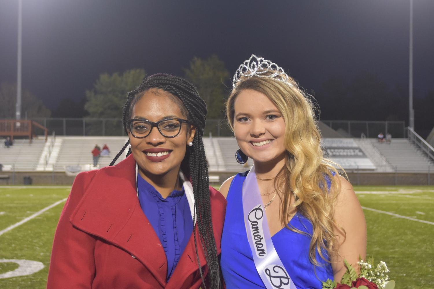 Principal Meocha Williams crowned senior Cameron Berryman as the 2018 Homecoming Queen on October, 12, 2018.