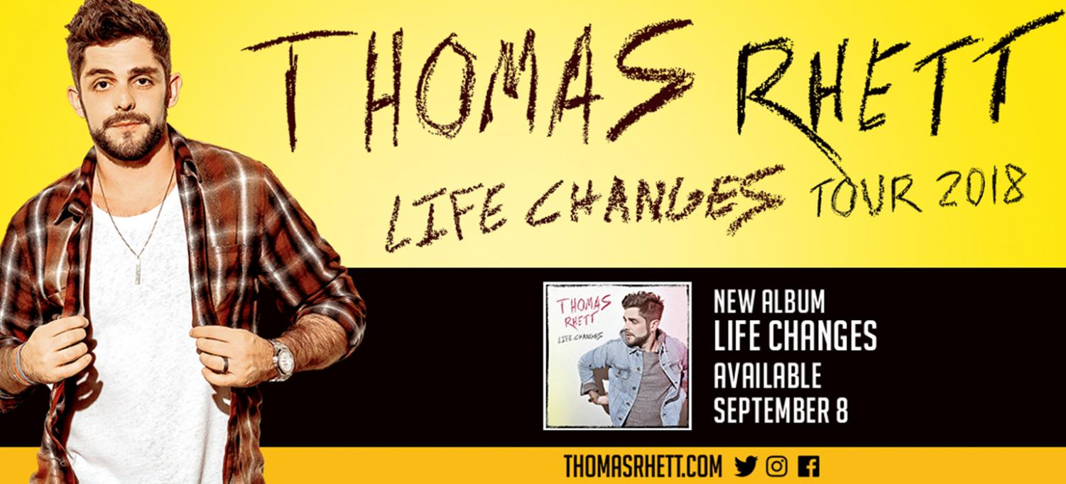 Thomas Rhett made a stop in Lexington on October 4, 2018, as part of his Life Changes tour.  Graphic from https://www.dailysplace.com/events/detail/thomas-rhett.