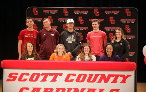SCHS Athletes Commit to Collegiate Play During Fall Signing Ceremony