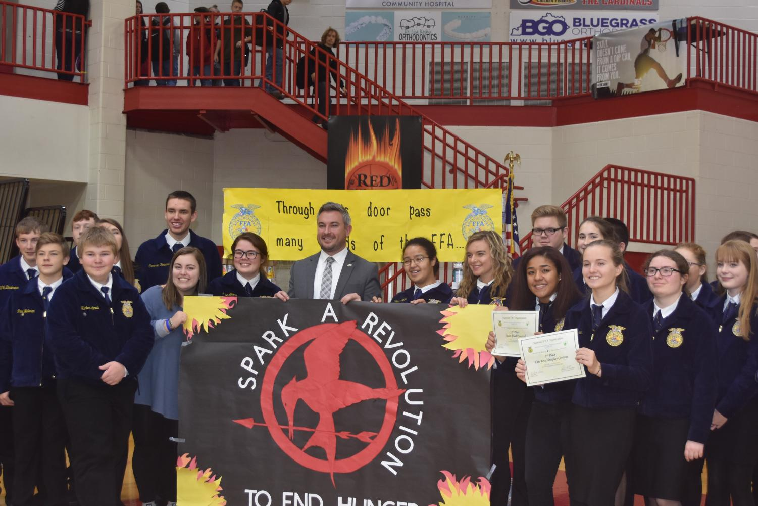 FFA+members+were+thankful+to+have+Kentucky%27s+Commissioner+of+Agriculture+Ryan+Quarles+speak+at+the+Thanksgiving+Assembly.++Quarles+is+also+a+graduate+of+Scott+County+High+School.+