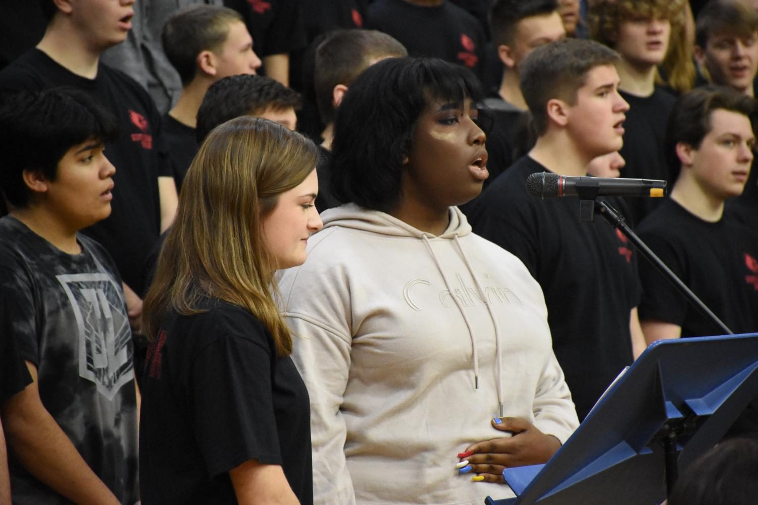 The+SCHS+choir+performed+two+selections+during+the+assembly.