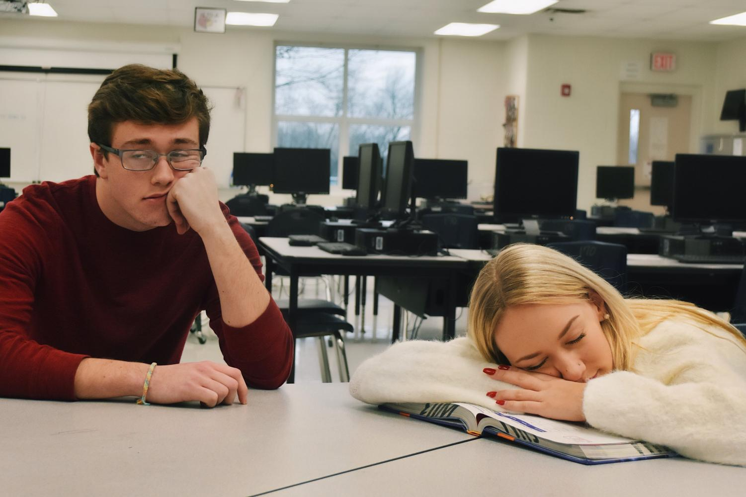 Chase Hayes and Emme Palmer were voted to have the biggest case of senioritis by their classmates this year.