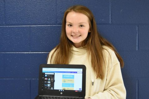 Student Cammy Sergent in Mr. Bledsoe's 5th hour Honors Social Studies Class creates an infographic.