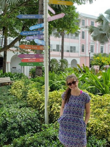 Senior Sydney Glenn recently visited the Bahamas for Fall Break.
